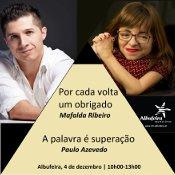 MAFALDA RIBEIRO E PAULO AZEVEDO EM ALBUFEIRA PARA PALESTRA SOBRE DEFICIÊNCIA