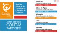 RECOLHA DE PROPOSTAS PARA O ORÇAMENTO PARTICIPATIVO