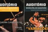 """AUDITÓRIO MUNICIPAL VOLTA A RECEBER PÚBLICO COM """"CLÁSSICOS LIGHT'20"""" E BANDA DO FILME 'VARIAÇÕES'"""